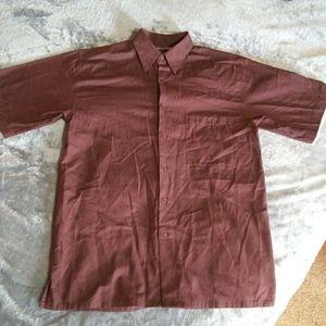 Maroon button up shirt